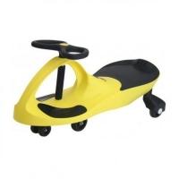 Детская самоходная машинка PlasmaCar (Плазмакар) оригинал, цвет желтый, полиуритановые колеса.