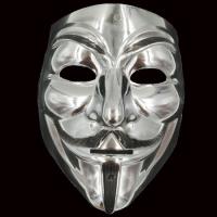 Маска Анонимуса Гая Фокса серебро