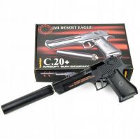Детский пневматический металлический пистолет С20+ глушитель Desert Eagle