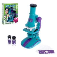 Микроскоп детский с набором для исследований, световые эффекты, работает от батареек, Эврики