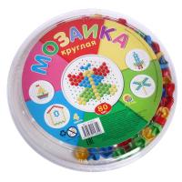 Мозаика детская круглая 80 элементов
