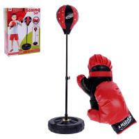 Набор для бокса Профи напольная груша, перчатки