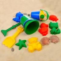 Игрушки для песочницы набор № 113 (8 формочек, совок, лейка, грабли, ведро)