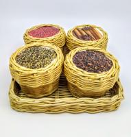 Набор для специй плетенный из бумажной лозы