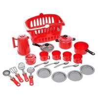 Игрушечная посуда Ириска 8 предметов набор с корзиной АКЦИЯ!