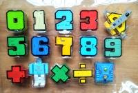 Набор цифр трансформеров большой со знаками