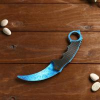 Нож деревянный керамбит допплер