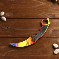 Нож деревянный керамбит мраморный градиент