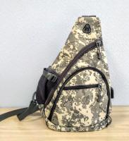 Однолямочный тактический рюкзак хаки