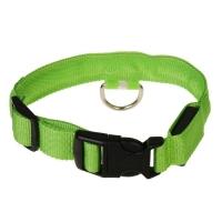 Ошейник с подсветкой, S, 38-40 см, 3 режима свечения, зеленый