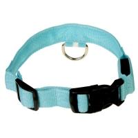 Ошейник с подсветкой, XL, 50-58 см, 3 режима свечения, голубой
