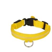 Ошейник с подсветкой, XL, 50-58 см, 3 режима свечения, желтый