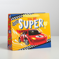 Пакет ламинированный горизонтальный You are super, S 15 × 12 × 5.5 см