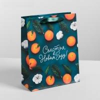 Пакет ламинированный «Счастья в Новом Году», 18 × 23 × 8 см