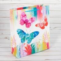 Пакет ламинированный вертикальный «Бабочки», ML 23 × 27 × 8 см