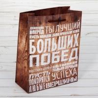 Пакет ламинированный вертикальный Больших побед, MS 18 × 23 × 8 см