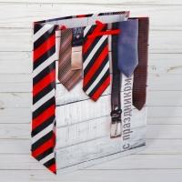 Пакет ламинированный вертикальный С Праздником, 18 × 23 × 8 см