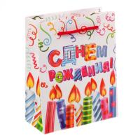 Пакет ламинированный вертикальный Яркого праздника, S 12 × 15 × 5,5 см
