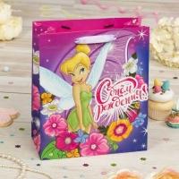 Пакет подарочный С Днем Рождения!, Феи: Динь Динь, (ламинир, 23 х 27 х 11.5 см)