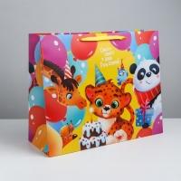 Пакет подарочный С Днём Рождения!, (ламинир, XL 49 × 40 × 19 см)