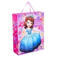 Пакет подарочный Самая милая принцесса, София Прекрасная (ламинир, 31 х 40 х 11 см