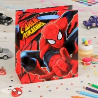 Пакет подарочный Самый крутой, Человек-паук, (ламинир, 31 х 40 х 11 см)