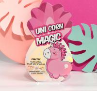 Палетка для макияжа Unicorn magic, румяна, хайлайтер и тени для век, 4 оттенка