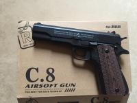 Детский пневматический металлический пистолет С8А+