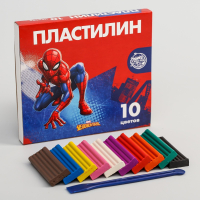 Пластилин Человек паук  10 цветов 150 г