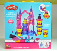 АКЦИЯ!  Пластилин Lanyi-Toy замок Авроры (4 баночки) с куклой