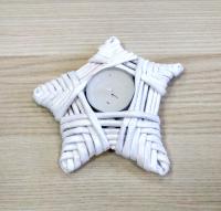Подсвечник звездочка плетенный из бумажной лозы со свечой