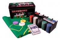 Покерный набор с 2-мя колодами карт + сукно (200 фишек)