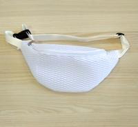 Поясная сумка на пояс сетчатая белая