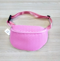 Поясная сумка на пояс сетчатая розовая