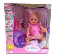 Пупс кукла Baby born с аксессуарами в пижаме 43 см