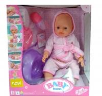 Пупс кукла Baby born с аксессуарами в халате 43 см