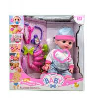 Пупс кукла little baby с аксессуарами врача