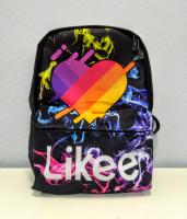 Рюкзак 3D LIKEE черный разноцветный дым ортопед спинка