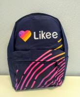 Рюкзак 3D LIKEE с сердцем синий