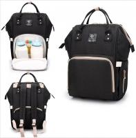 Рюкзак для мамы и малыша черный