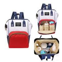 Рюкзак для мамы и малыша красно-синий