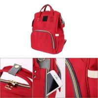Рюкзак для мамы и малыша красный