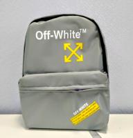 Рюкзак серый Off white  ортопед спинка