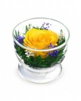 АКЦИЯ! Желтая роза (высота 6,диаметр 8,5)