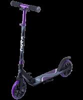 Самокат двухколесный Liquid 180 мм, черный/фиолетовый Ridex