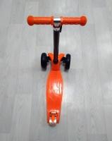 Самокат детский Micromax с широкими колесами оранжевый MS 960