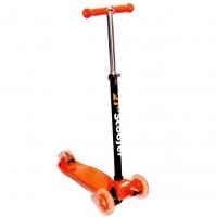 Самокат 3-х колесный Scooter 21st maxi (2 колеса сзади) оранжевый