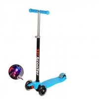 Самокат 3-х колесный Scooter 21st maxi (2 колеса сзади) синий