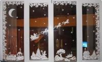 """Спрей для разрисовки окон """"Снежные хлопья белые"""", 300 мл + 5 трафаретов"""
