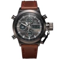 Часы мужские AMST наручные коричневый ремешок